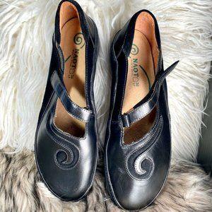 NAOT Matai Women Black Leather Mary Jane Shoes 7